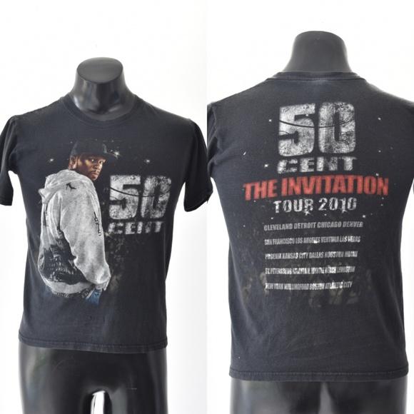 Anvil Tops - 50 Cent The Invitation Tour 2010 Concert T Shirt S